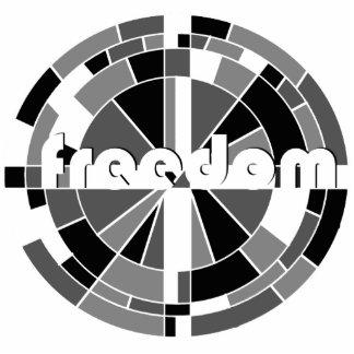 la libertad abrazó la escultura fotoescultura vertical