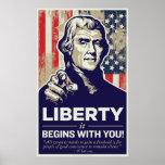La libertad de Jefferson comienza con usted la imp Posters