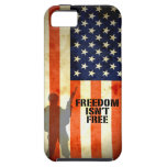 La libertad de la bandera americana no es caso lib iPhone 5 Case-Mate cárcasas