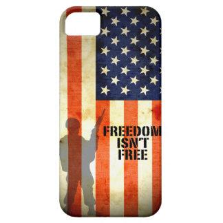 La libertad de la bandera americana no es caso lib iPhone 5 fundas