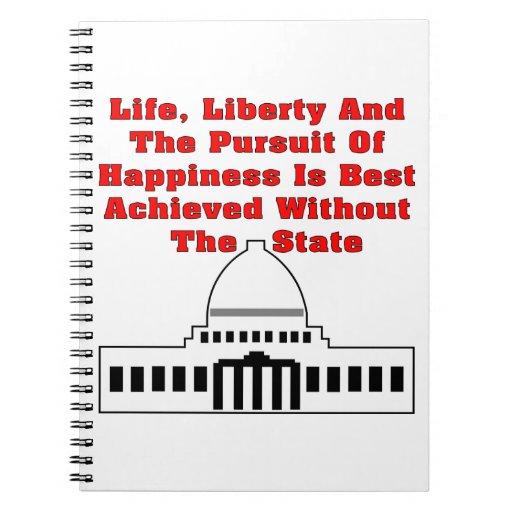 La libertad de la vida y la búsqueda de la felicid libreta
