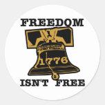 La libertad de Liberty Bell no está libre Etiqueta