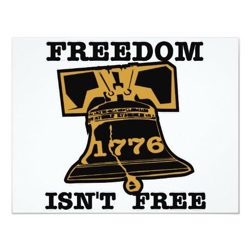 "La libertad de Liberty Bell no está libre Invitación 4.25"" X 5.5"""