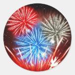 La libertad de los fuegos artificiales no está pegatina redonda
