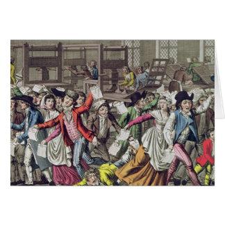 La libertad de prensa, 1797 tarjeta de felicitación
