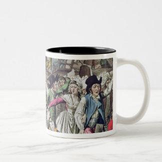 La libertad de prensa, 1797 taza de café de dos colores