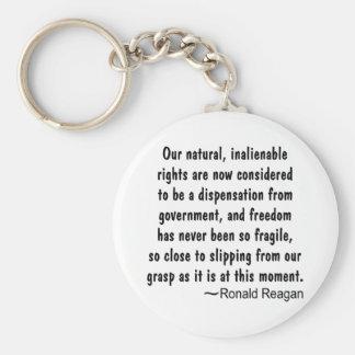La libertad de Ronald Reagan nunca ha estado tan Llavero Redondo Tipo Pin