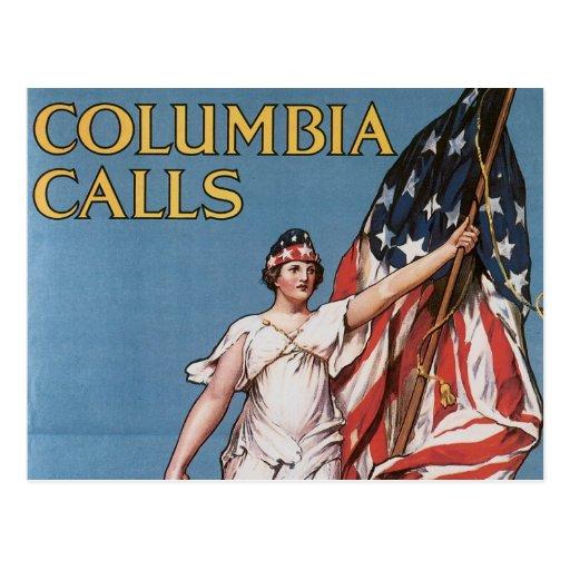 La libertad del poster de WWI llama el vintage Tarjeta Postal