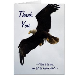 """La """"libertad"""" Eagle calvo le agradece cardar Tarjeta De Felicitación"""