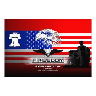 La libertad es más que una impresión de la foto de cojinete