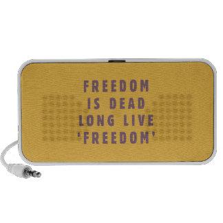 La libertad es muerta. Vive de largo el 'freedom iPhone Altavoces