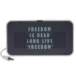 La libertad es muerta. Vive de largo el 'freedom Laptop Altavoz
