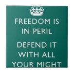 La libertad está en peligro azulejos ceramicos