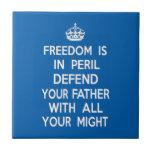 La libertad está en peligro defiende a su padre azulejos