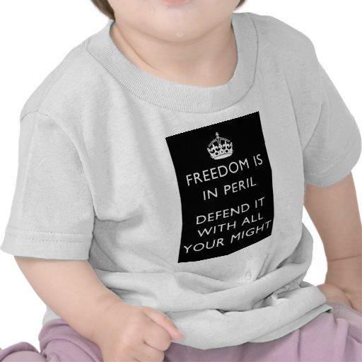 la libertad está en peligro lo defiende con toda camiseta