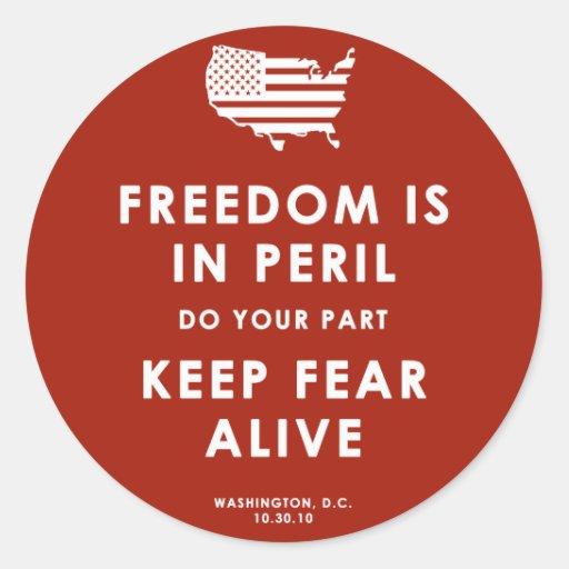 ¡La libertad está en peligro! Pegatina