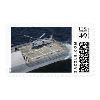 La libertad litoral de USS de la nave de combate Timbre Postal