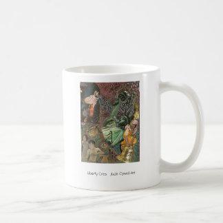 """La """"libertad llora"""" taza de café"""