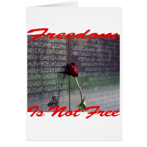 La libertad no es #004 libre felicitación