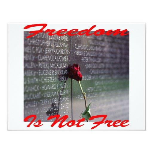 """La libertad no es #004 libre invitación 4.25"""" x 5.5"""""""