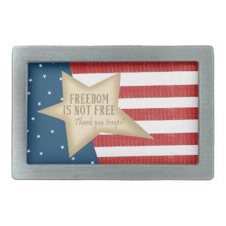 La libertad no es hebilla del cinturón libre hebilla cinturon rectangular
