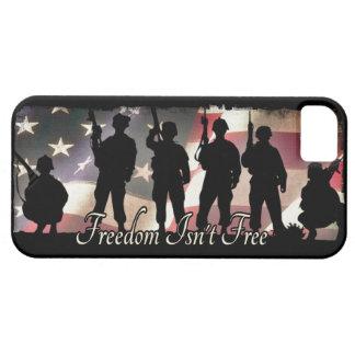 La libertad no es silueta militar libre del iPhone 5 carcasas