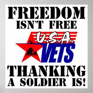 La libertad no está libre: ¡El agradecimiento de u Posters