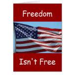 La libertad no está libre felicitación