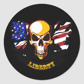 La libertad no está libre pegatina redonda