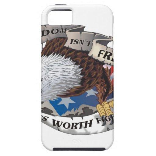 La libertad no está libre sino que vale el luchar  iPhone 5 Case-Mate coberturas