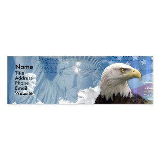 La libertad no está libre tarjetas de visita mini