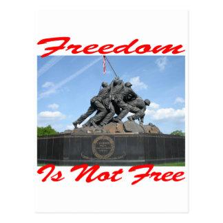 La libertad no está libre tarjetas postales