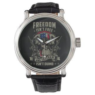 La libertad no está libre, y la libertad no es reloj de mano