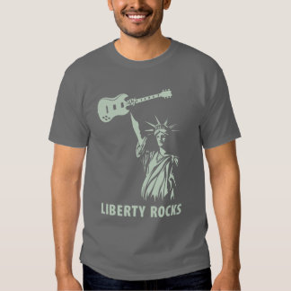 La libertad oscila la camiseta remeras