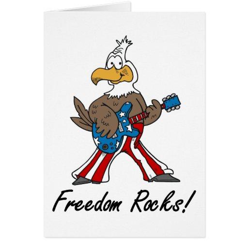 La libertad oscila notecards tarjeta pequeña