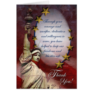 La libertad patriótica le agradece cardar tarjeta de felicitación