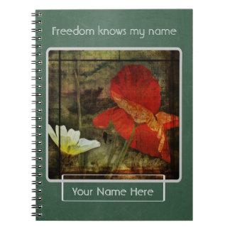 """La """"libertad sabe mi"""" cuaderno personalizado"""