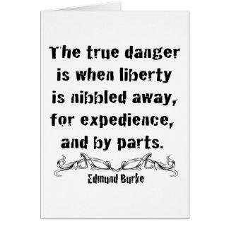 La libertad se mordisca lejos tarjeta de felicitación
