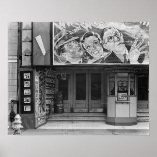 La libertad Theatre, 1935. Foto del vintage Póster