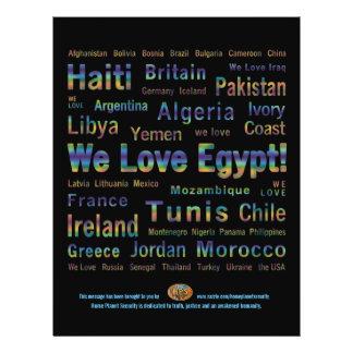 La libertad tiene ~ de las alas que amamos Egipto Flyer Personalizado