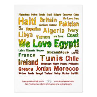 La libertad tiene ~ de las alas que amamos Egipto Tarjeton