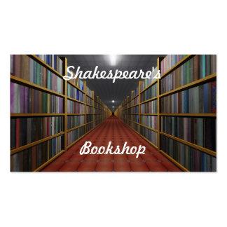 La librería de Shakespeare Tarjetas De Visita