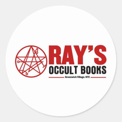 La librería oculta del rayo pegatina redonda