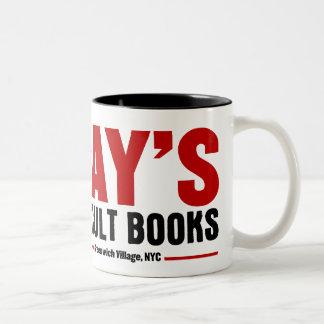 La librería oculta del rayo taza de café de dos colores