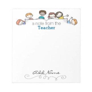 La libreta de encargo de un profesor blocs de notas
