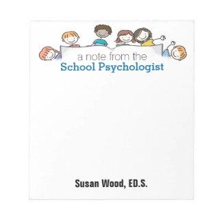 La libreta de encargo de un psicólogo de la bloc de papel