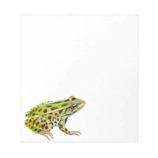 La libreta de la rana de leopardo bloc de notas