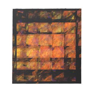 La libreta del arte abstracto de la pared bloc de notas