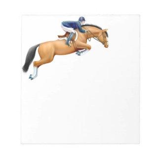 La libreta del caballo del puente de la bloc de notas