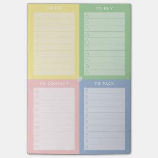 La libreta del lío múltiple coloreado post-it® notas